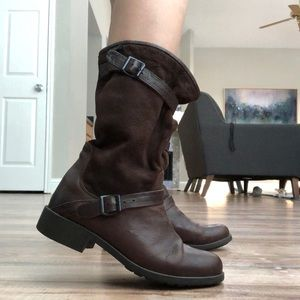 CAMPER Leather Brown Mid-Calf Slouch Boots